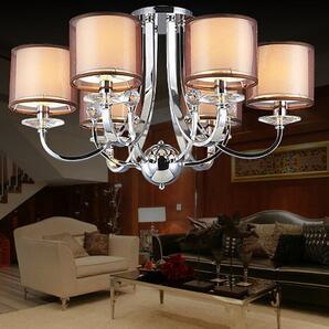 现代水晶吊灯创意客厅灯餐厅灯 现代简约卧室灯简欧客厅灯具灯饰