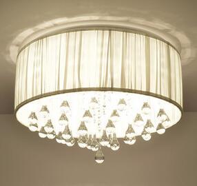 简约现代水晶LED吸顶灯 欧式卧室餐厅个性创意酒店样板房客厅吊灯