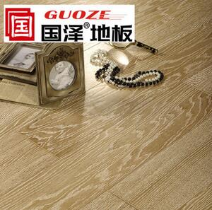 国泽地板 多层实木地板 橡木仿古2216