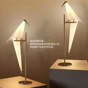 后现代led台灯北欧创意个性卧室小鸟艺术台灯