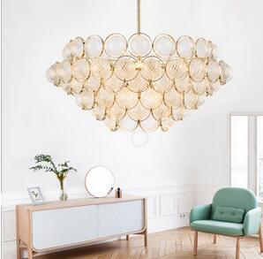 北欧时尚奢华客厅灯玻璃球泡泡装饰灯具酒店复式楼设计师水晶吊灯
