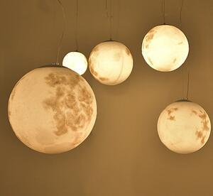 新款北欧简约餐厅圆球亚克力月球吊灯吧台后现代咖啡厅创意个性