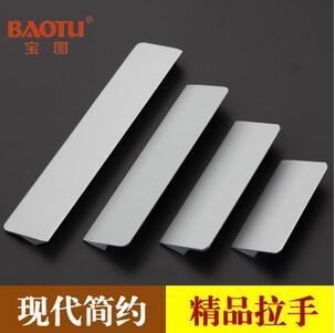 氧化铝拉手 现代简约橱柜拉手 实心铝把