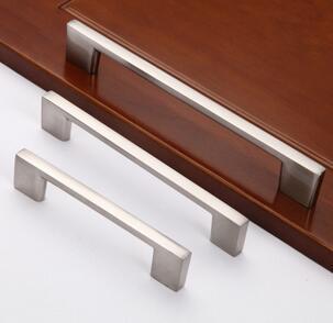 现代简约柜门拉手 拉丝橱柜小把手 铝合金衣柜拉手 家具小拉手