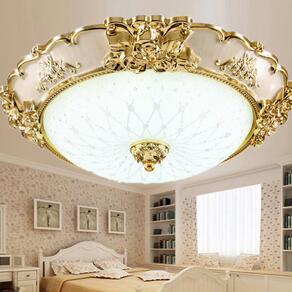 欧式客厅灯具圆形 led吸顶灯卧室灯温馨浪漫房间灯 阳台灯过道灯