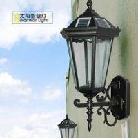 太阳能灯具厂家 太阳能壁灯 户外照明LED门柱灯 花园庭院景观灯