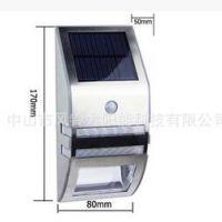 工厂生产不锈钢太阳能人体感应灯高 led户外壁灯楼道灯阳台感应灯