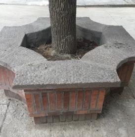PC树围树框树穴老石板定做加工仿古石板