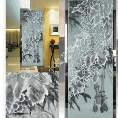 酒店磨砂玻璃屏风 田园风艺术玻璃屏风隔断 高档玻璃屏风批发