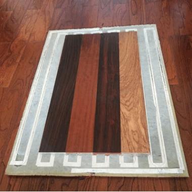 创诺尔室内智热模块与无醛实木地板 现代精装防滑保温自发热地板
