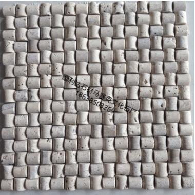 厂家直销纯天然洞石石材小罗头马赛克文化石背景墙砖