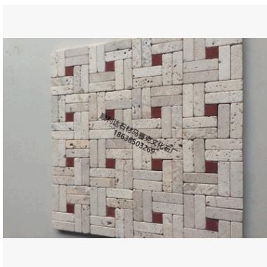 厂家直销质优价廉纯天然洞石石材马赛克文化石玄关卫生间背景墙砖
