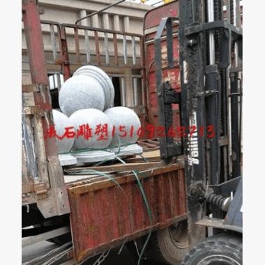西北陕西西安批发挡车石隔离石墩防撞石路障石车止石直径500