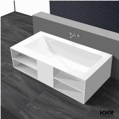 深圳卫浴工厂人造石浴缸 树脂石独立式浴缸成人澡缸 人造大理石浴