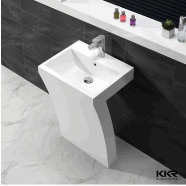 KKR卫浴洗脸盆 高档定制立柱盆 落地式一体立柱盆 浴室立柱盆