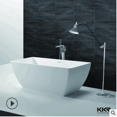 出口人造石浴盆浴缸 公寓酒店舒适泡澡浴缸 多款式可选择