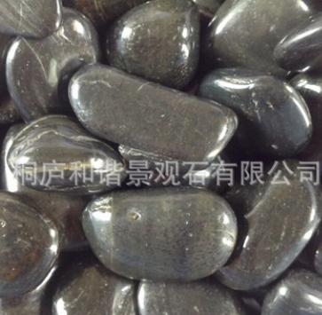 500克黑色小石子打磨抛光石头鱼缸水族装饰草坪小道装饰景观风景