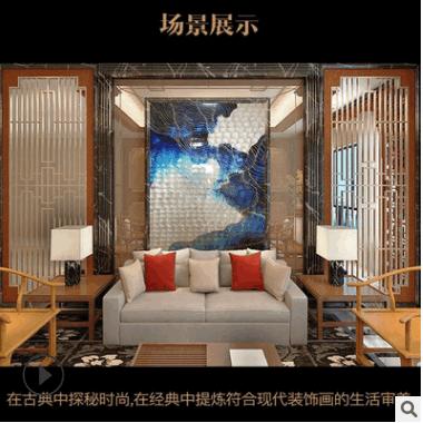 厂家批发 3d打印贝壳装饰画 抽象挂画 玄关画 客厅餐厅喷绘壁画
