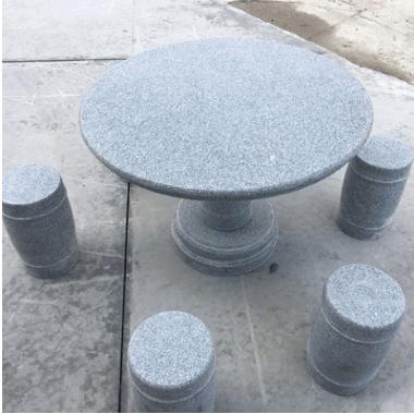 厂家直销花岗岩石桌石凳 花园公园户外庭院桌凳可定制批发