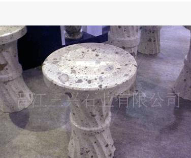 供应玉翠岩套椅餐桌大理石饭桌餐桌椅组合餐厅成套家具花岗岩