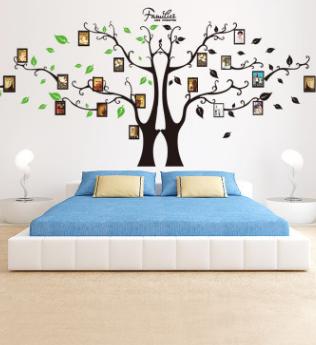 创意大树照片贴纸客厅沙发背景墙壁墙上装饰卧室可移除墙贴画自粘