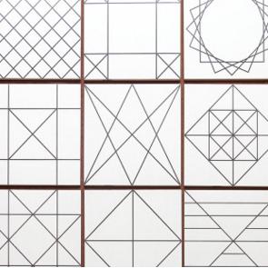 厨房卫生间墙砖 北欧格子砖小方砖亚光喷墨连锁店瓷砖300x300