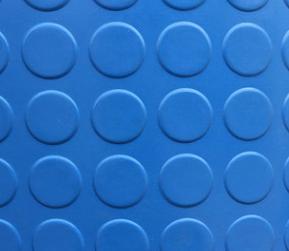 厂家直销 防滑橡胶板圆扣蓝色铜钱垫条纹橡胶板 批发