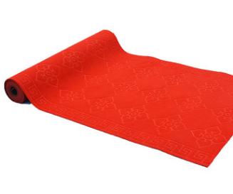 大红压花地毡防滑吸水地垫走廊过道家用地毯婚庆酒店商场满铺厂家