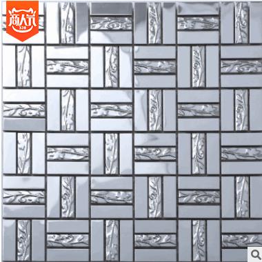 供应金属马赛克/ 不锈钢马赛克/金属+金箔系例/自由搭配