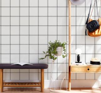 黑白格子墙纸客厅卧室服装店现代简约灰色北欧风格ins壁纸韩式