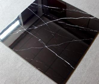 黑色客厅地砖全抛釉瓷砖800*800地板砖电视背景墙砖地板砖黑白根