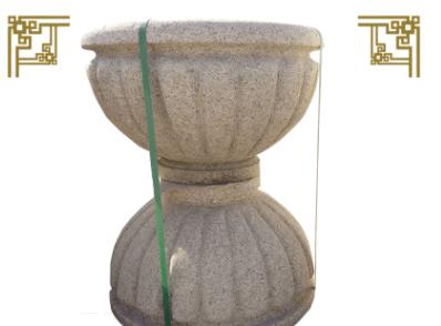 园林景观石花盆 花岗岩石材花盆 各种石雕锈石花盆 中式西式花盆