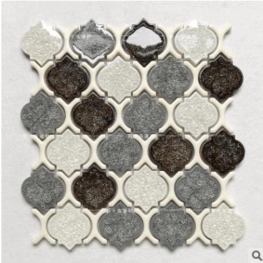 冰裂梅花拼花马赛克瓷砖 厨房卫生间浴室墙砖 个性复古背景墙砖