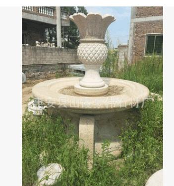 黄锈石石材喷泉(批发各种景观石雕、干挂幕墙、地铺路岩等石材)