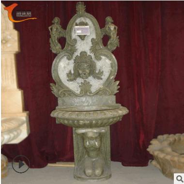 户外石雕洗手盆仿古做旧鱼缸水池别墅小区流水喷泉摆件拖布池雕塑