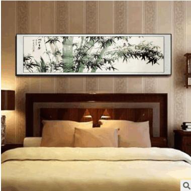 新款酒店卧室床头画家居客厅横版装饰画手工油画装饰画定制挂画