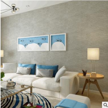 厂家直销高档素色蚕丝无缝墙布2018新款简约家装酒店ktv工程壁布
