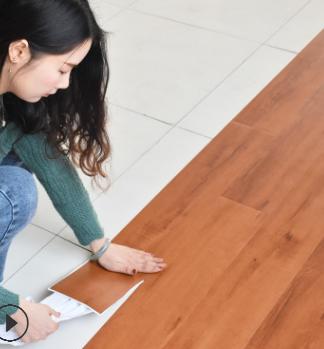 PVC自粘地板免胶石塑地胶家用加厚耐磨防水防滑地板革木纹地板贴