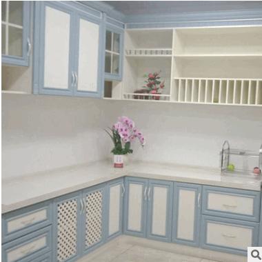 新款创意家具小户型厨房装修橱柜 定制太空铝厨房家具橱柜吊柜