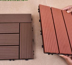 户外塑木拼接地板DIY地板木塑复合地板室外防腐生态木地板批发