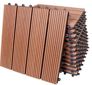 木塑diy地板塑木户外拼接地板阳台露台浴室花园wpc塑木拼接地板