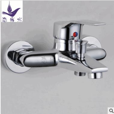 厂家批发 雅思三联浴缸龙头双用出水接淋浴管 锌合金冷热暗装龙