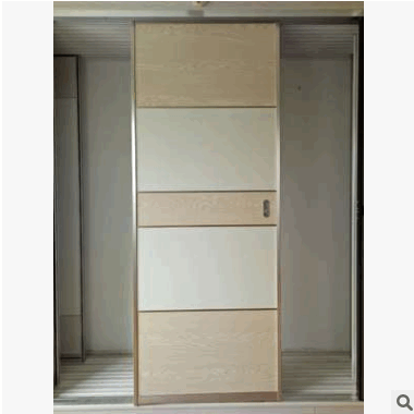 潇晨门窗推出卧室门18mm杉木推拉门实木衣柜门支持定制零售批发