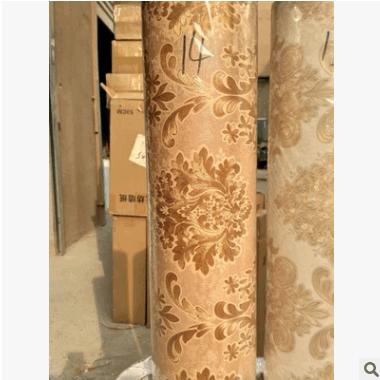 高档加厚无纺布自粘墙纸 简约欧式自粘壁纸批发