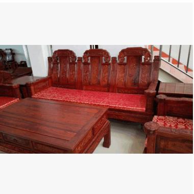 中式红木家具可升值可收藏红酸枝红檀如意沙发厂家
