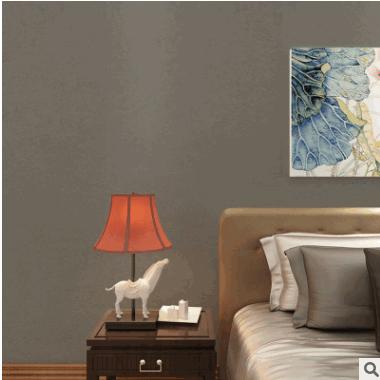 长纤素色墙纸 纯色蚕丝无纺布壁纸卧室客厅背景墙壁纸现代简约