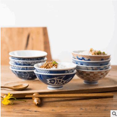 日本进口陶瓷碗陶瓷米饭碗粥碗汤碗小菜碗日式餐厅陶瓷碗