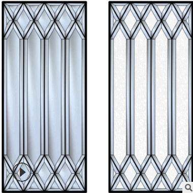 广州源头厂家直销装饰铜条镶嵌艺术玻璃 定制门窗镶嵌玻璃