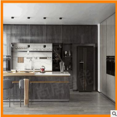 厨房橱柜定制,高光亚克力橱柜,UV板橱柜,高端超亚木纹橱柜批发