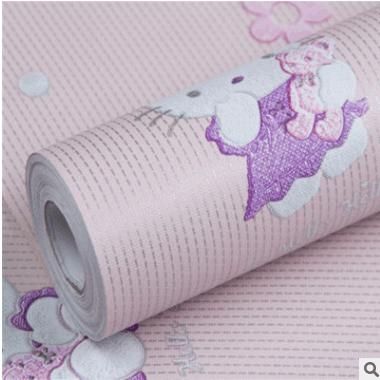加厚自粘儿童房10米环保墙纸 机器猫 hellokitty 雅彤壁纸厂家